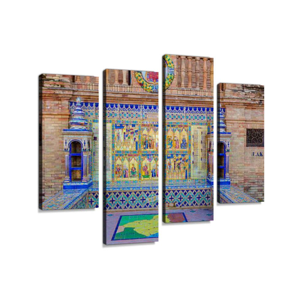 Amazon.com: Murcia Province, Glazed Tiles Bench at Spain ...