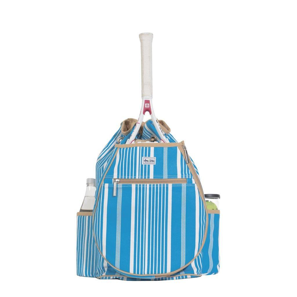 Ame & Lulu Kingsley Tennis Backpack (Ticking Stripe)