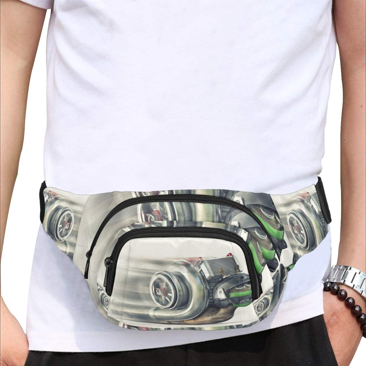 Curious Snails Crawl On Concrete Fenny Packs Waist Bags Adjustable Belt Waterproof Nylon Travel Running Sport Vacation Party For Men Women Boys Girls Kids