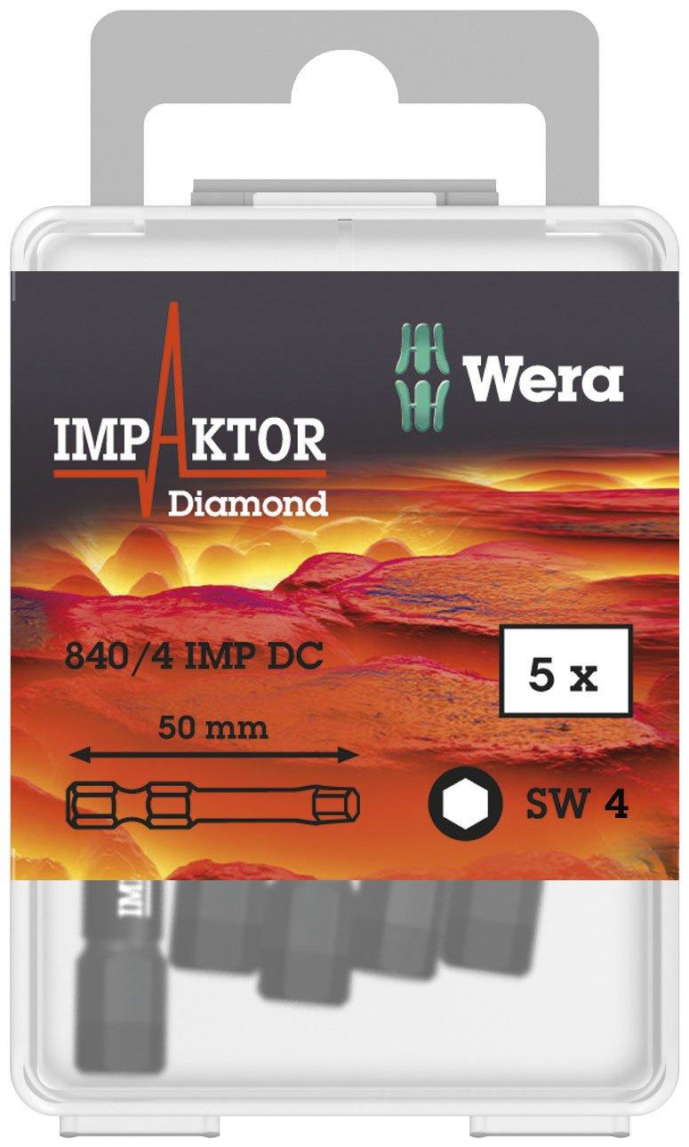 Wera 05057644001 EmboutImpactor 840//4 IMP DC 4.0x50mm Argent