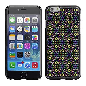 SoulCase / Apple Iphone 6 / Psychedelic All Seeing Eye Totem Pattern / Slim Black Plastic Case Cover Shell Armor