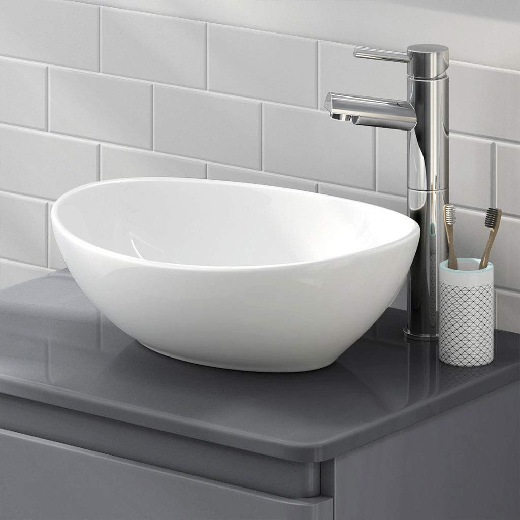 Bathroom Sink White Bathroom Porcelain Ceramic Vessel Sink Basin Bowl Sink Wash Basin Lavatory 0515