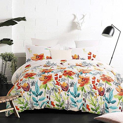 Vaulia Lightweight Microfiber Duvet Cover Set, Colorful Flor