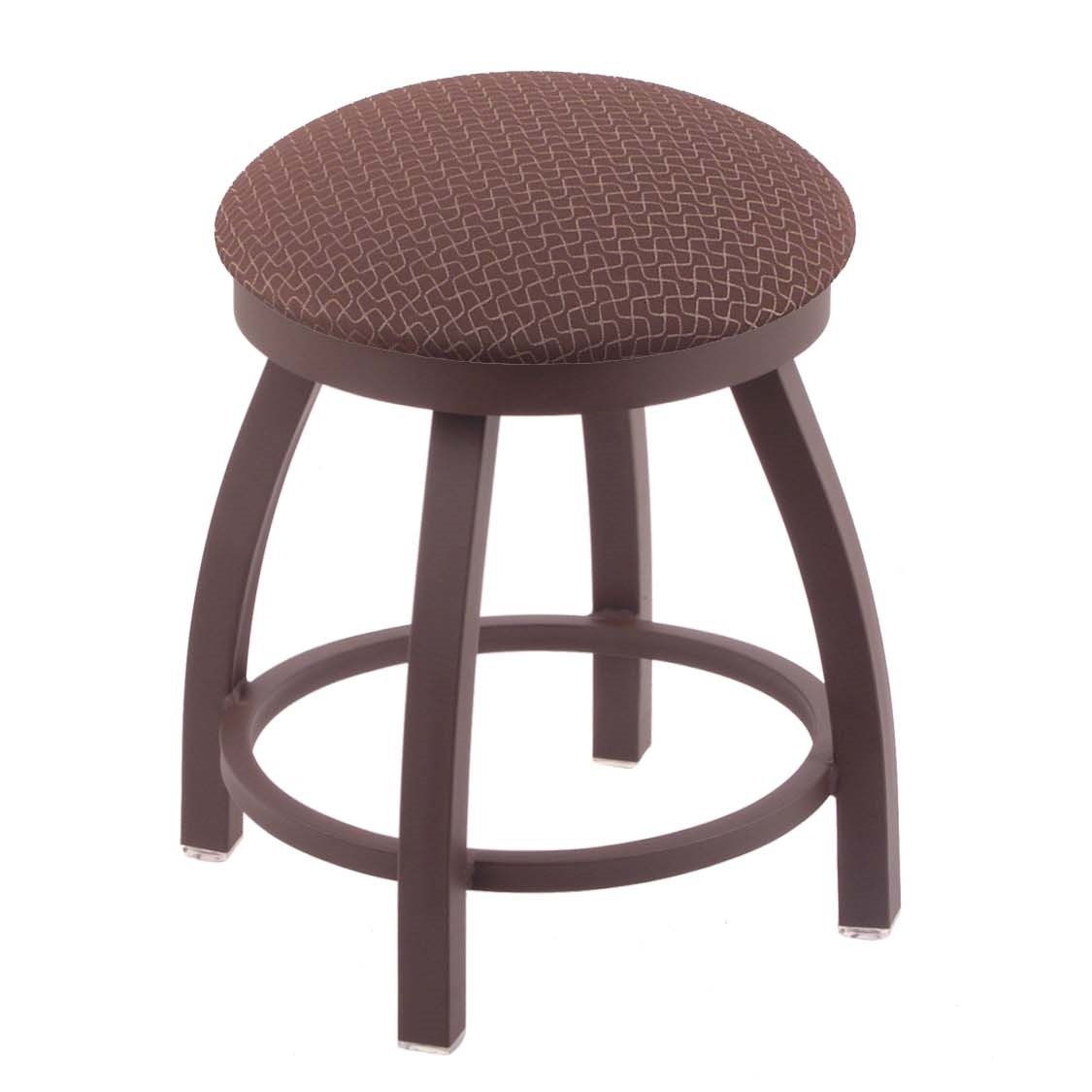 Holland Bar Stool Co. 802 Misha Vanity Stool with Bronze Finish and Swivel Seat, 18'', Axis Willow by Holland Bar Stool Co.