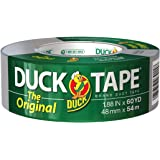 """The Original Strength Duck Tape Brand Silver Duct Tape, 1.88"""" x 60 YD Single Roll, 394475"""