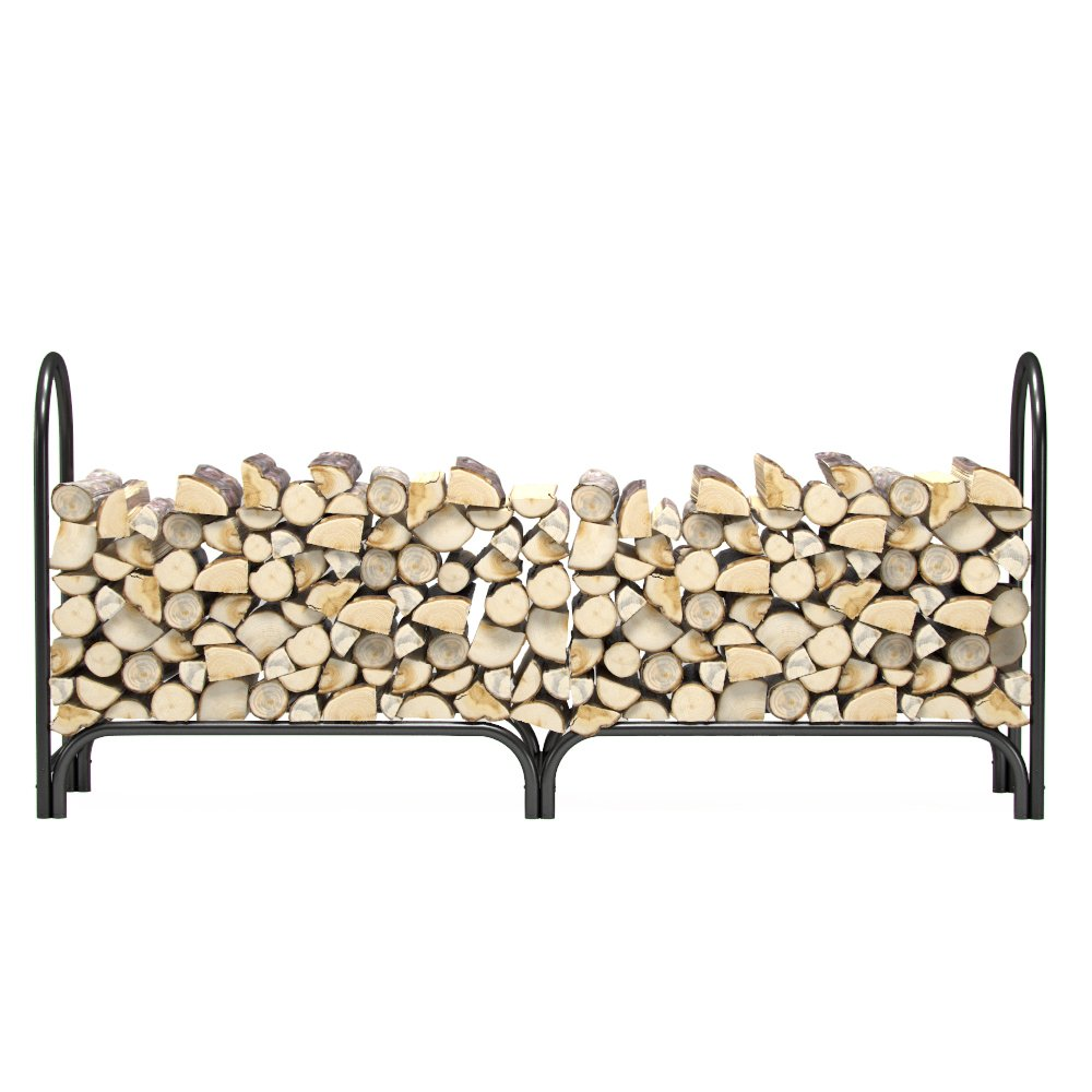 Regal Flame 8 ft Heavy Duty Firewood Shelter Log Rack for Fireplaces and Fire Pits to Enjoy a Real Fire or Complement Vent-Free, Propane, Gas, Gas Inserts, Ethanol, Electric, Indoor Outdoor Fireplaces by Regal Flame