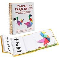 Coogam Viaje magnético Tangram Puzzles Libro Juego Tangrams