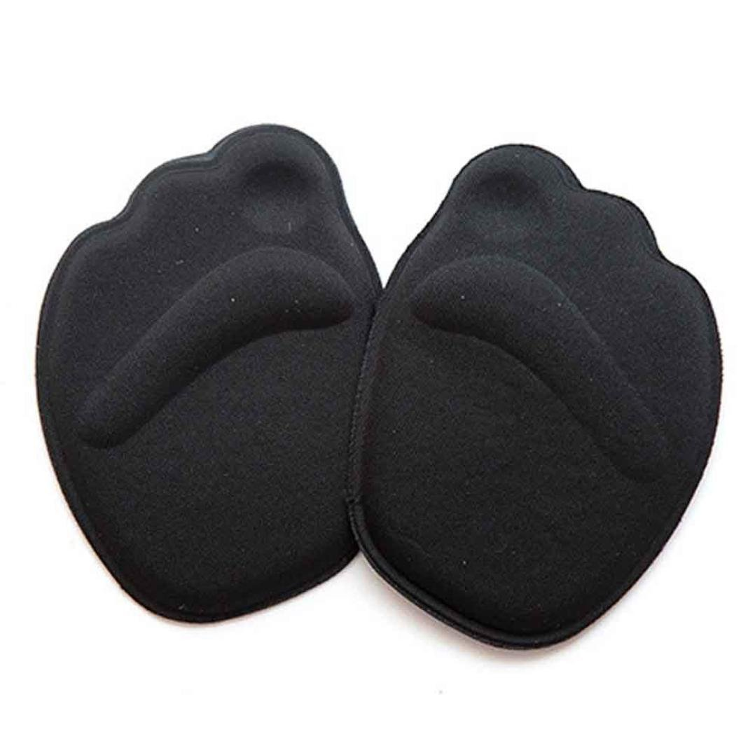 Malloom Sole High Heel Foot Cushions Forefoot Anti-Slip Insole Breathable Shoes Pad Soft (Black)