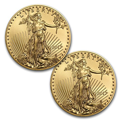 Gold Eagle Set (2017 1 oz Gold American Eagle Coin BU (Lot of 2) Brilliant Uncirculated)