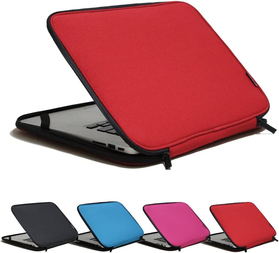 INNTZONE 15.6 Inch Stand-Type Laptop Sleeve case Bag Pouch Cover Notebook Carrying Case - Red