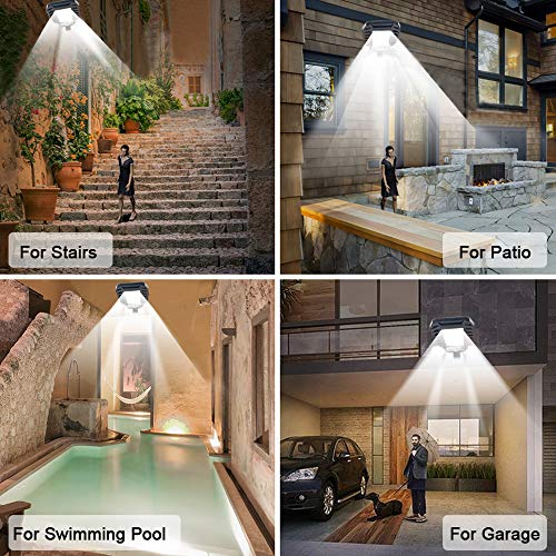 Solar Lights Outdoor Motion Sensor, Wireless Security Lights with Remote Control,132 LED Adjustable Flood Lights, IP65 Waterproof for Deck, Fence, Patio, Front Door, Garage, Yard, Shed, Path(1- Pack)