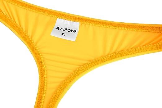 e3eeaa573 Amazon.com  Avidlove Men Underwear Sexy Pouch Briefs Thongs G-string  Stretch Elastic Bikinis Orange M   US S  Health   Personal Care