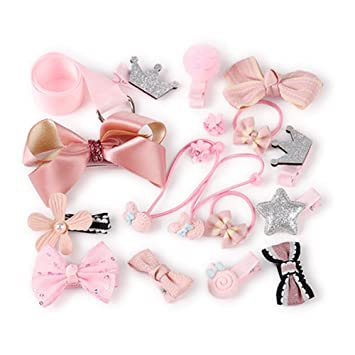 Amazon.com   Doubtless Bay Hair Clips Accessories Baby Kids Teens Girls Hair  Bands Bows Barrettes Hairpins Set (pink)   Beauty aa5d0bed0fc