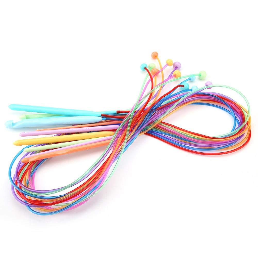 Akozon - 12 Agujas de Crochet de plástico abs afgano