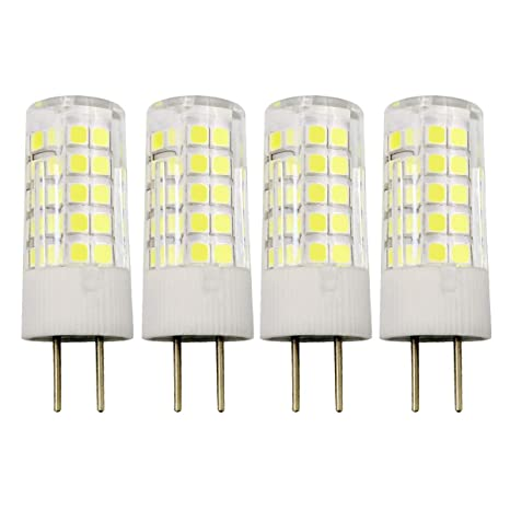 GY6.35 4W LED Lampe G6.35/GY6.35 Bi-Pin Sockel T4 JC Typ 12V Kaltweiß 6000K 40W Halogen Equivalent, 4er Pack [MEHRWEG]