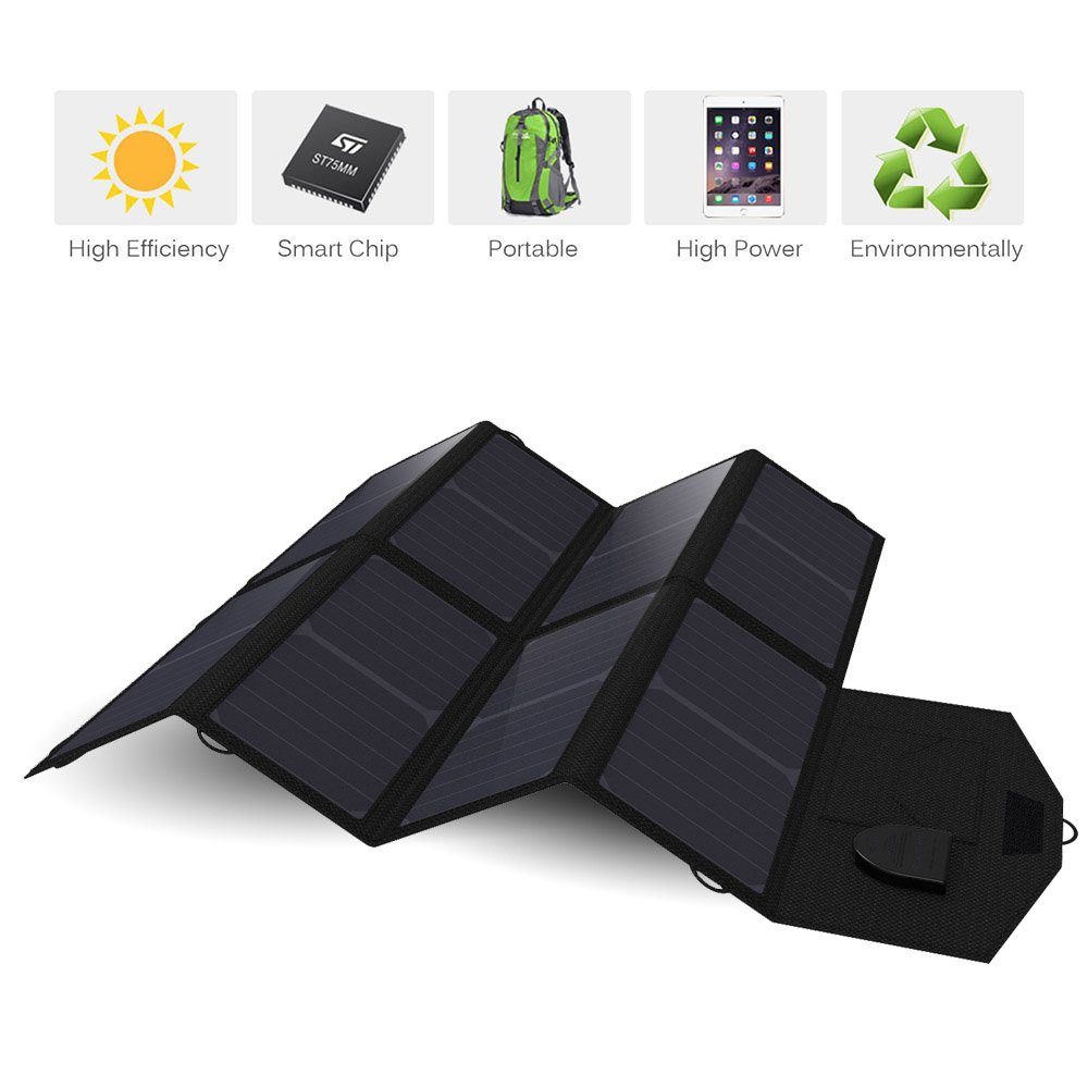 Solar Charger, X-DRAGON 40W SunPower Solar Panel Charger (5V USB with SolarIQ + 18V DC) Water Resistant Laptop Charger for Phone, NoteBook, Tablet, Apple, iPhone, iPod, Samsung, Android Smartphones by X-DRAGON (Image #8)