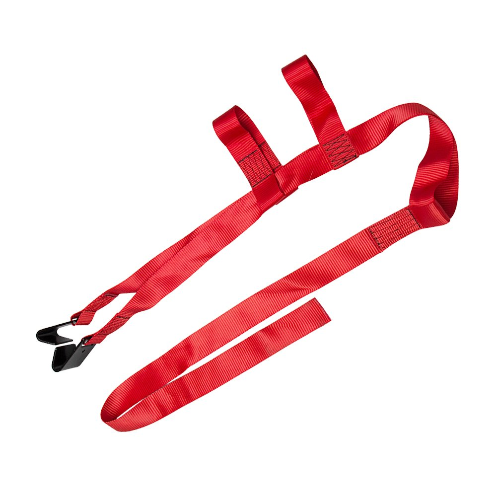 Bang4buck 2 Packs 15 to 20 RIM Universal Adjustable Tie Down Tow Straps for Demco Kar Kaddy Dollys with 2 Flat Hooks 6600 lb Breaking Strain