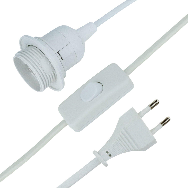 MAILUX E14-Lampenfassung mit Kabel | 3,5m Netzkabel | Stecker | mit ...