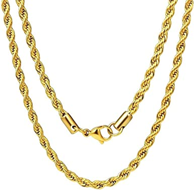 "Mens italian Figaro link Chain 3mm 18/"" inch 14k Gold Plated"