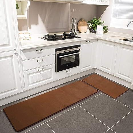 Amazoncom Kitchen Rug Set Leevan Memory Foam Kitchen Comfort Mat