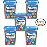Pack of 5 - TEMPTATIONS MixUps Treats for Cats SURFER'S DELIGHT Flavor 16 Ounces - 80 oz Total