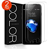 iPhone 8, 7 Screen Protector, G-Color iPhone 8 Tempered Glass [0.2mm,2.5D] [Bubble-Free] [9H Hardness] [Scratch-Resistant] Screen Protector for Apple iPhone 8, 7 (2 Pack)