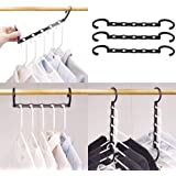 (10pcs) - Household Mall Pack of 10 Pcs 38cm Black Magic Hangers Closet Space Saving Wardrobe Clothing Hanger Oragnizer