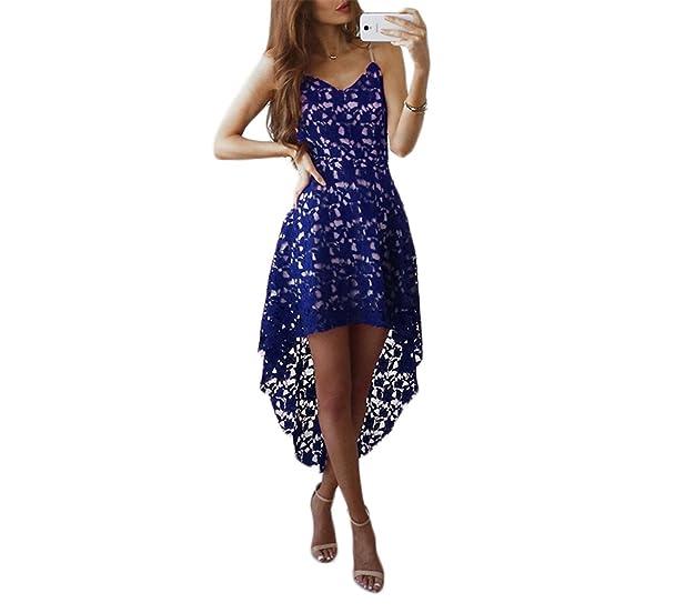 Hexu assimétrico com decote em v lace summer dress mulheres sexy oco out party dress lady