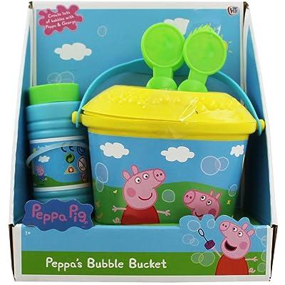 Seau à bulles anti-éclaboussures Peppa Pig avec solution