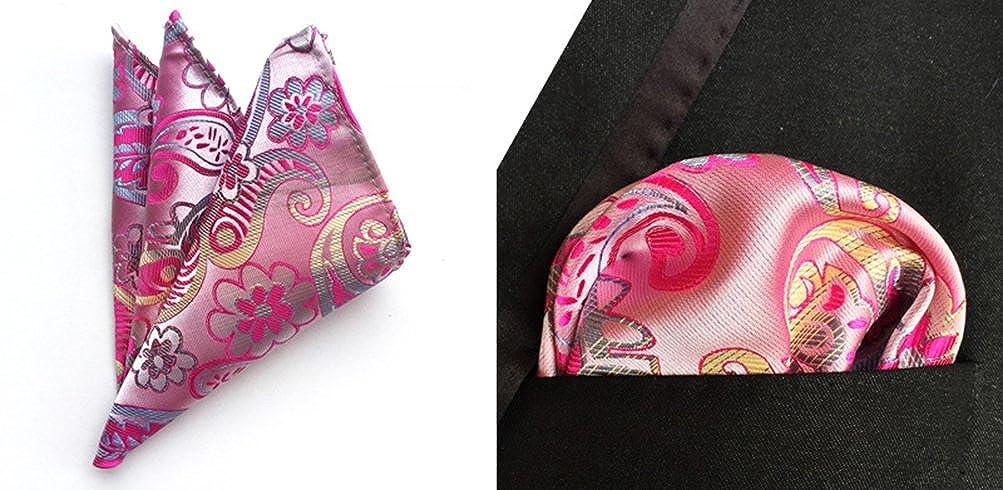 MOHSLEE Mens Floral Suit Tie Handky Woven Silk Suit Necktie /& Pocket Square Set