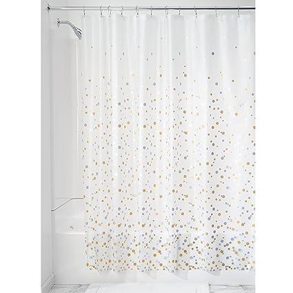 InterDesign Confetti Decorative PEVA 3G Shower Curtain Liner
