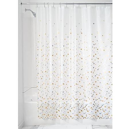 Amazon com  InterDesign Confetti Decorative PEVA 3G Shower Curtain Liner    72 x 72  Silver Gold  Home   KitchenAmazon com  InterDesign Confetti Decorative PEVA 3G Shower Curtain  . Silver And Gold Shower Curtain. Home Design Ideas