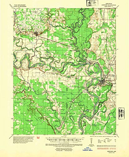 YellowMaps Newport AR topo map, 1:62500 Scale, 15 X 15 Minute, Historical, 1935, Updated 1954, 21.7 x 17.9 in - Paper