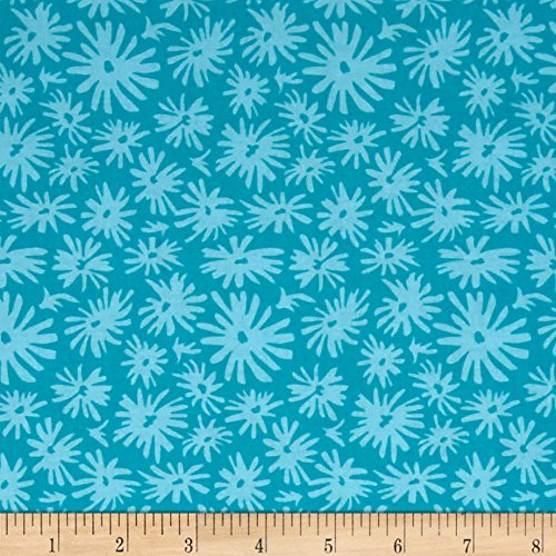 Jennifer Paganelli Judith's Fancy Mary Teal Fabric by The Yard