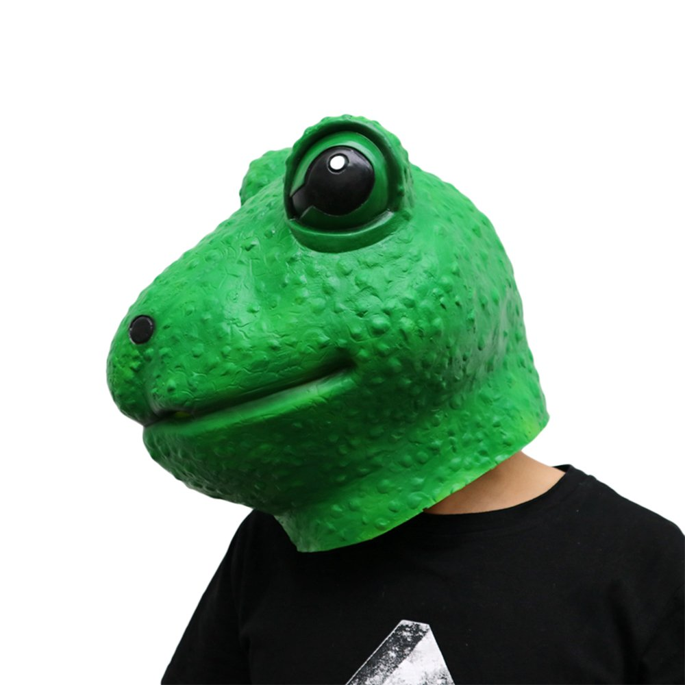 Morbuy Máscara de Cabeza Animal de Látex, Adulto Látex Novedad Interesante Cabeza Máscaras Halloween Cara Fiesta de Disfraces Cosplay (Rana): Amazon.es: ...