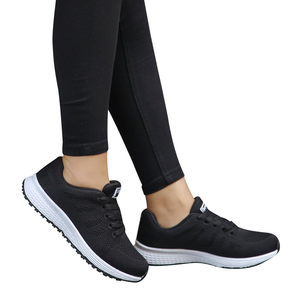 Amazon.com: COPPEN Women Sneakers Mesh Round Cross Straps Flat Running Shoes: Clothing