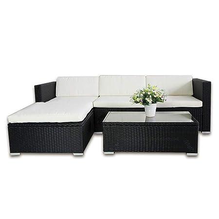 Set Arredo Giardino In Rattan.Clic 123 6034 Set Di Mobili In Rattan Sintetico Poltrona Lounge