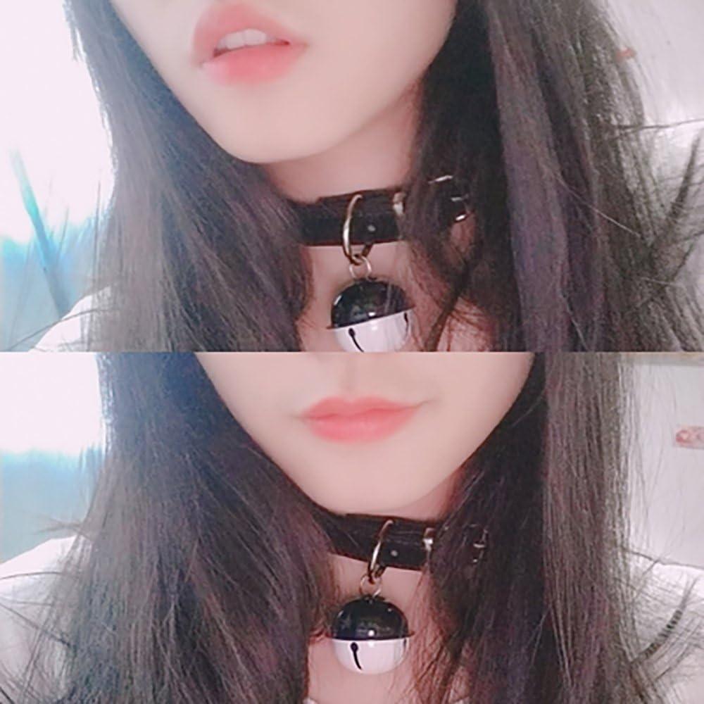 SUPER Q Handmade Cosplay Choker Lolita Kitty Bell Collar Women Leather Bow Choker Necklace