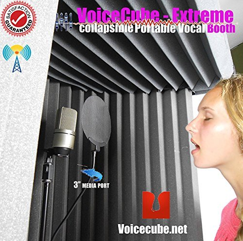 #1 Pro level Portable Vocal Booth for Voice Overs & Vocal Track work ()
