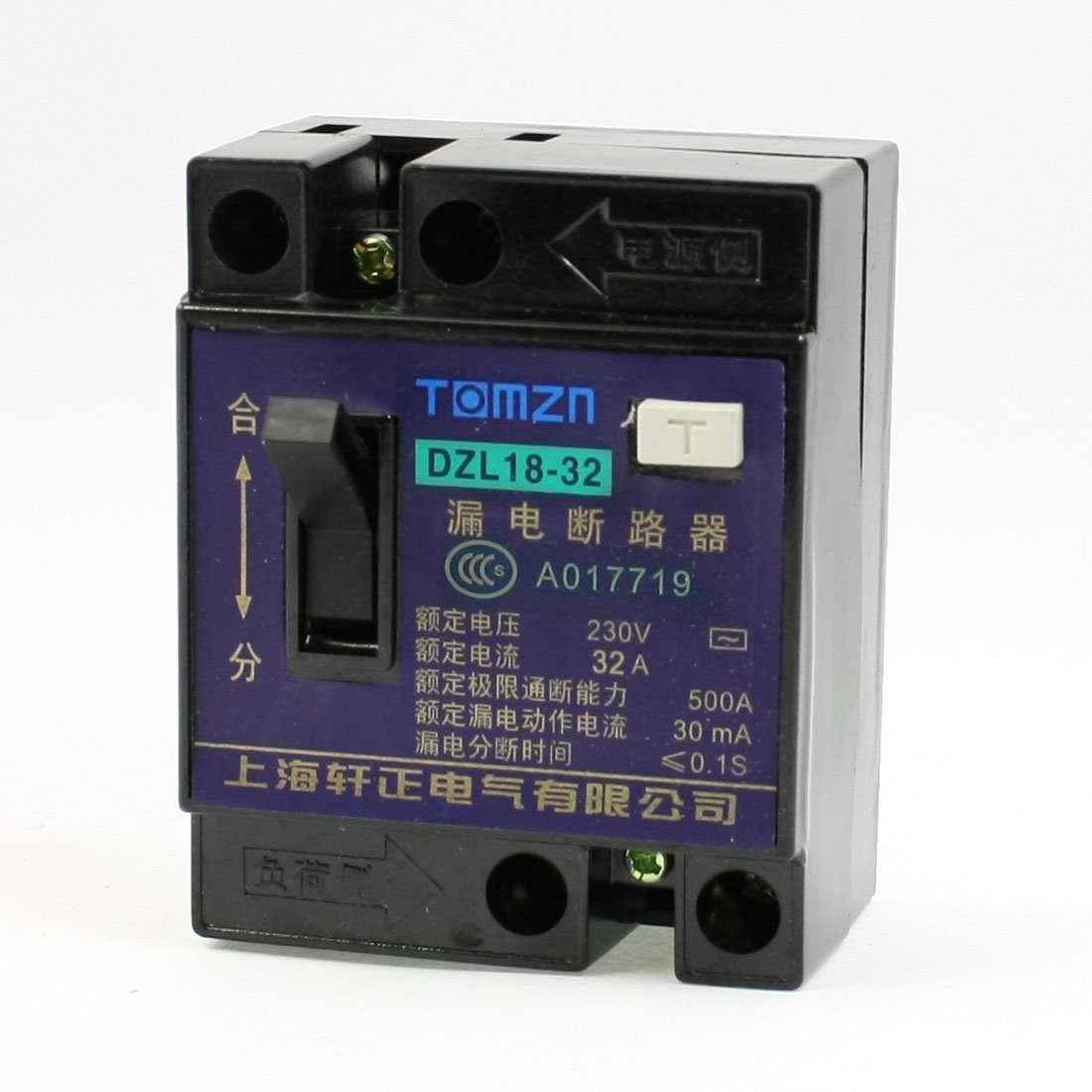 Uxcell DZL18-32 AC 230V 32 Amp 1 Pole 1P On//Off Switch ELCB Earth Leakage Circuit Breaker Uxcell UXCE9 a13051300ux0222
