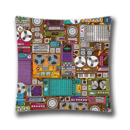 am-kingdom-cotton-polyester-throw-magnetophone-cushion-cover-pillowcase-18x18