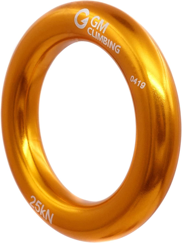 GM CLIMBING Rappel Ring 25kN for Rock Climbing Arborist Rescue Slackline Hammock Pack