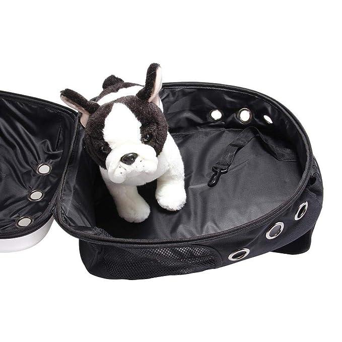lā Vestmon Zaino per Animali Domestici,Portatile Zaino per Cani Gatti Traspirante Trasparente per Uscire Il Sacchetto Portatile Piccolo del Gatto per Cani Piccola Borsa Viaggio