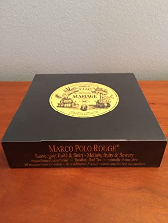 mariage frres marco polo rouge box of 30 traditional french muslin tea sachets - Mariage Freres Marco Polo