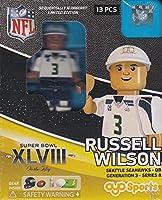 OYO Seattle Seahawks Quarterback Russell Wilson Minifigure SB XLVIII