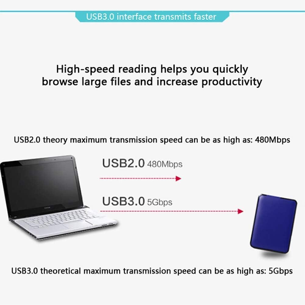 Color : Blue, Size : 1TB Portable USB3.0 Flash Drive Large Capacity 1TB 2TB High-Speed Transmission Hard Drive Memory Hard Disk