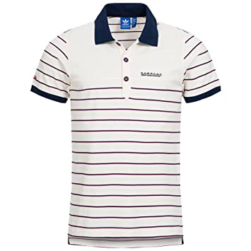 2b93e2fcf4589 Adidas Originals Porsche Speedster Men s Stripe Polo Shirt in White, M63079