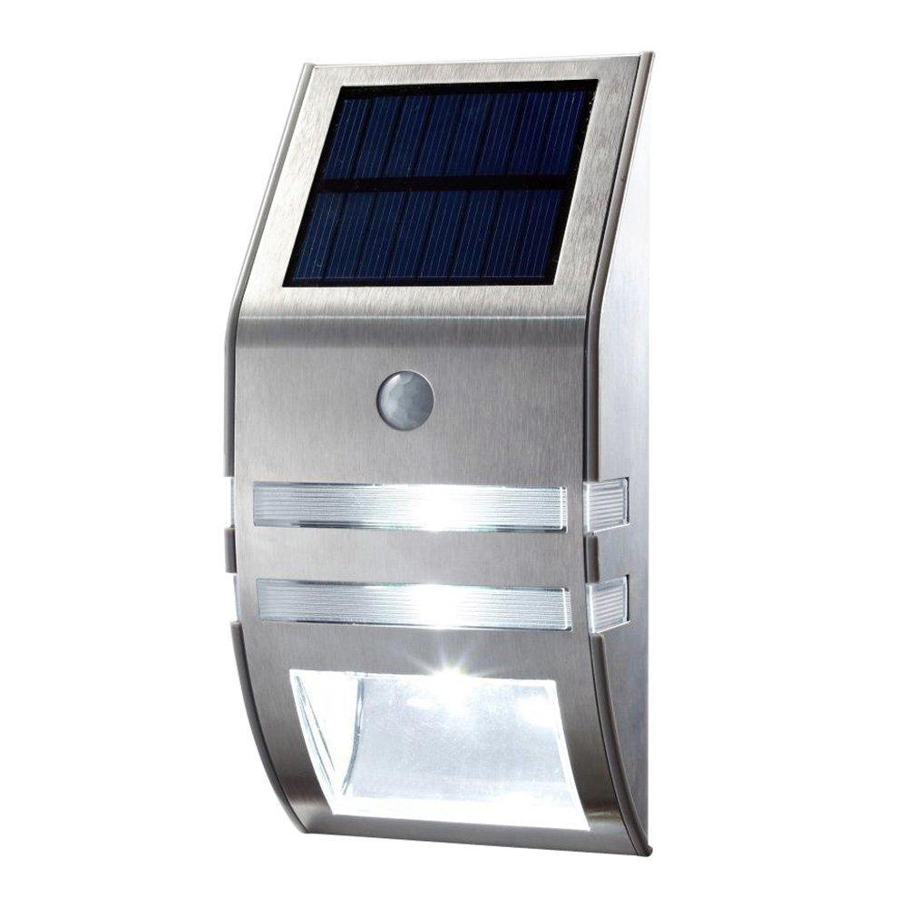 LED Solar Light Outdoor Waterproof Wireless Motion Sensor Light Stainless Steel Bright Solar Powered Wall Light For Garden Corridor Patio Path