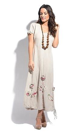 Couleur Lin Dress Juliette Beige Women Spring/Summer Collection at ...