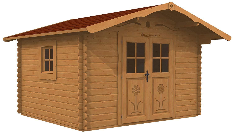 La Pratolina Casita de Madera 3.5 x 3 jardín, Caseta Herramientas, diseño Rural, Casa Juegos Niños: Amazon.es: Hogar